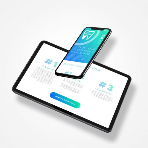 Floating iPhone 11 Pro Max and iPad Pro Mockup by Anthony Boyd Graphics